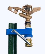 T Post Sprinkler, Buckner-Storm Three-Quarter Inch Full Circle Brass Impact Sprinkler